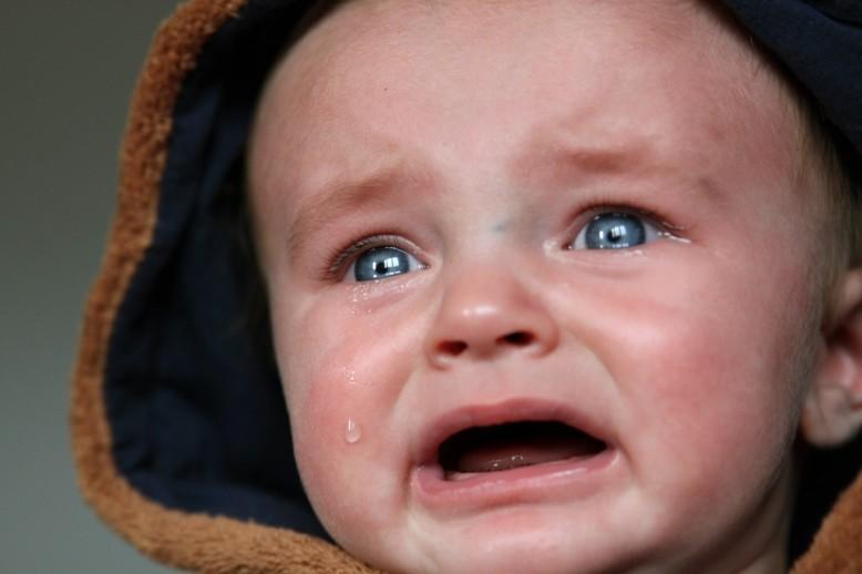 Davy crying